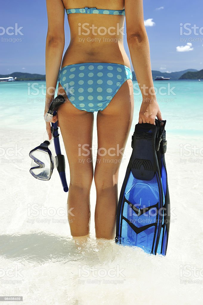 Going snorkeling royalty-free stock photo