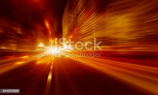 545558628istockphoto Going Through A city With High Speed 544002830