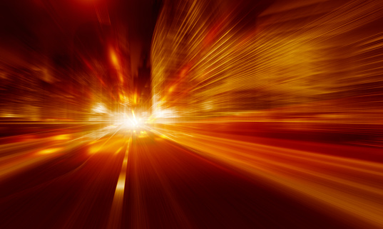 545558628 istock photo Going Through A city With High Speed 544002830