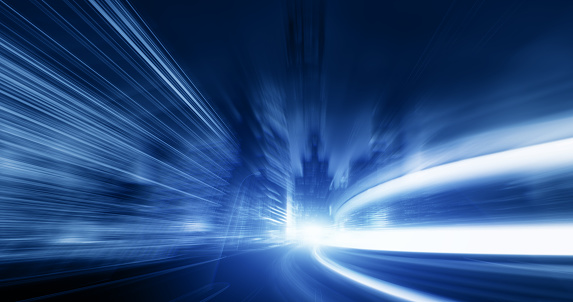 545558628 istock photo Going Through A street With High Speed 545558666