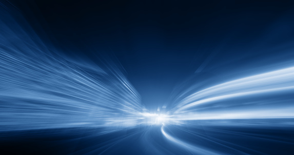 545558628 istock photo Going Through A street With High Speed 545674616