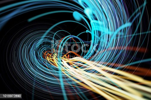 istock Going Through A Tunnel With High Speed 1015972890