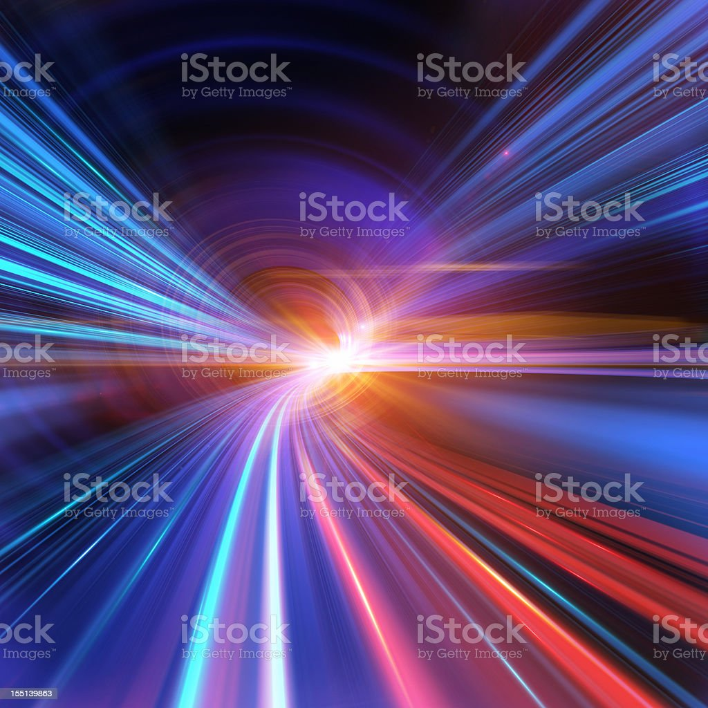 Going Through A Tunnel With High Speed stock photo