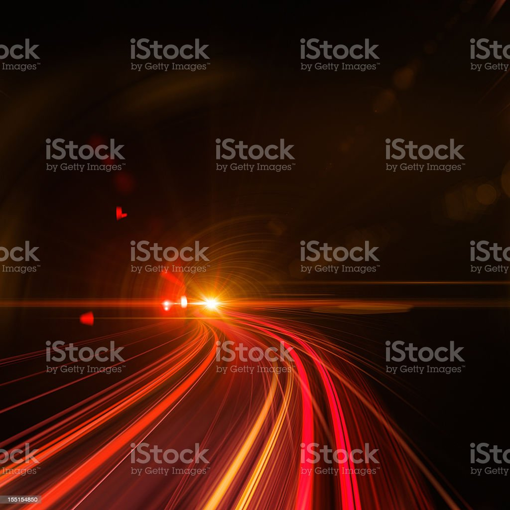 Going Through A Tunnel With High Speed royalty-free stock photo
