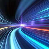 istock Going Through A Tunnel With High Speed 184929528