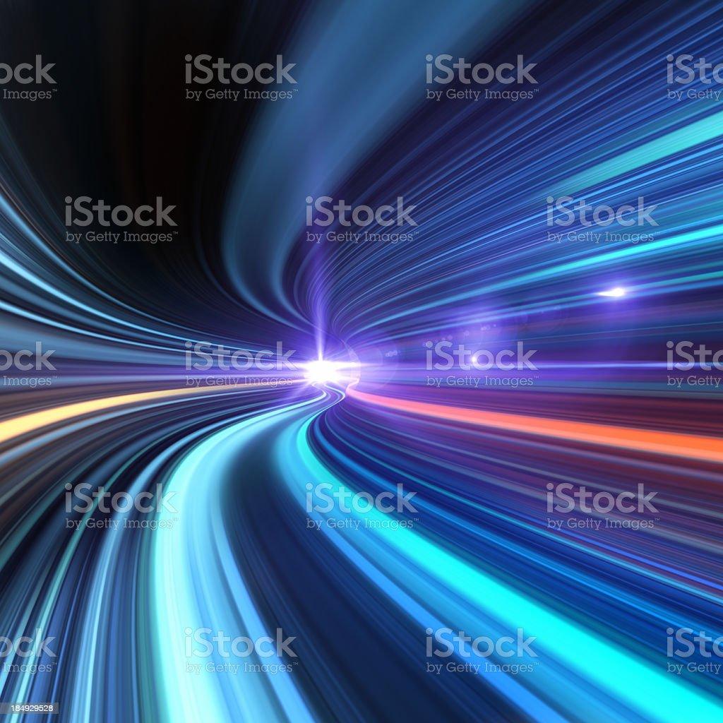 Voy A través de un túnel de alta velocidad - foto de stock