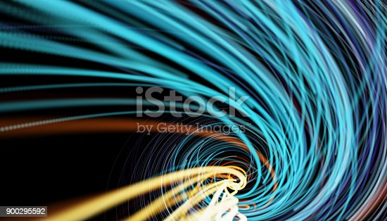 istock Going Through A Tunnel With High Speed 900295592