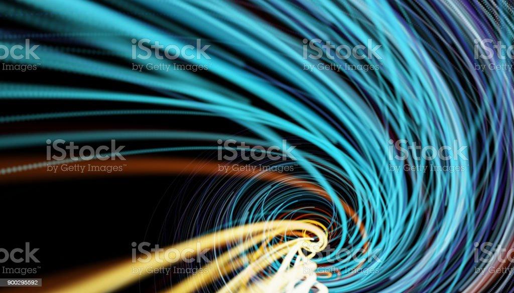 Gaan door een Tunnel met hoge snelheid foto