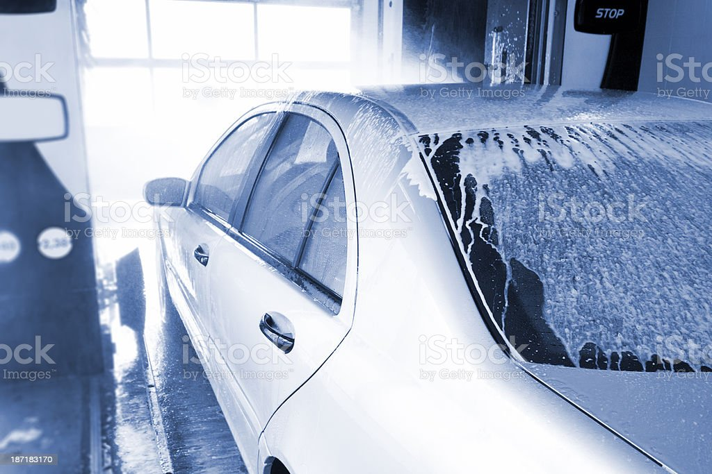 Going through Car Wash royalty-free stock photo