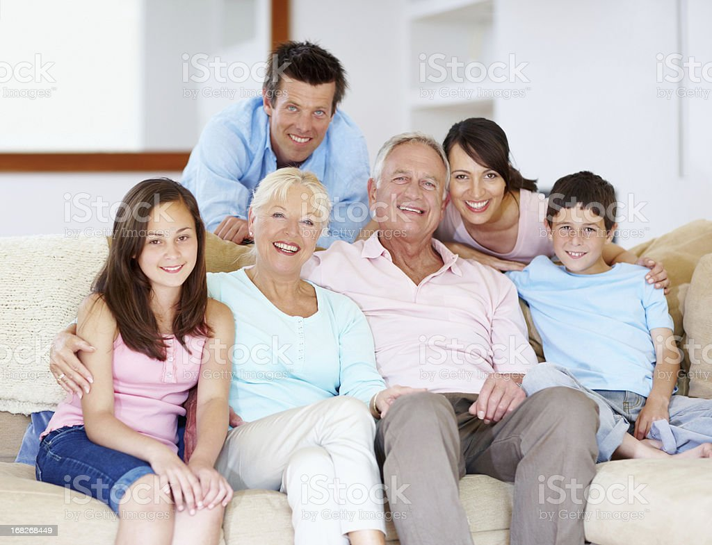 Going through life together - Family Support royalty-free stock photo