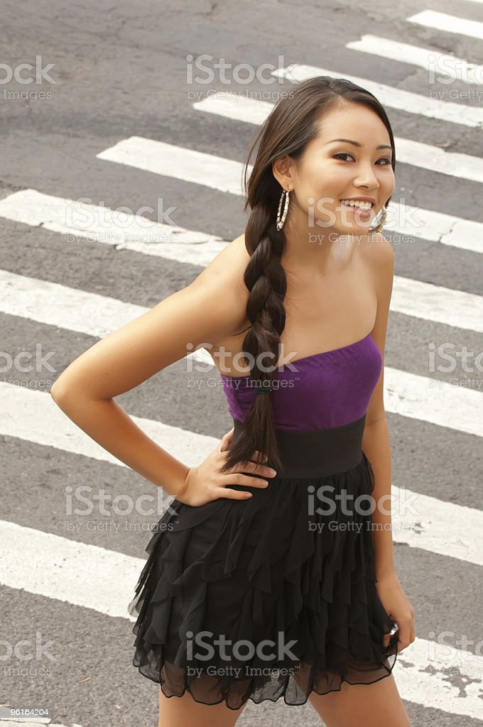 Going to a party in the city royalty-free stock photo