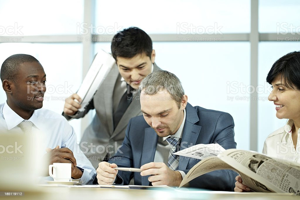 Going to announce good news royalty-free stock photo