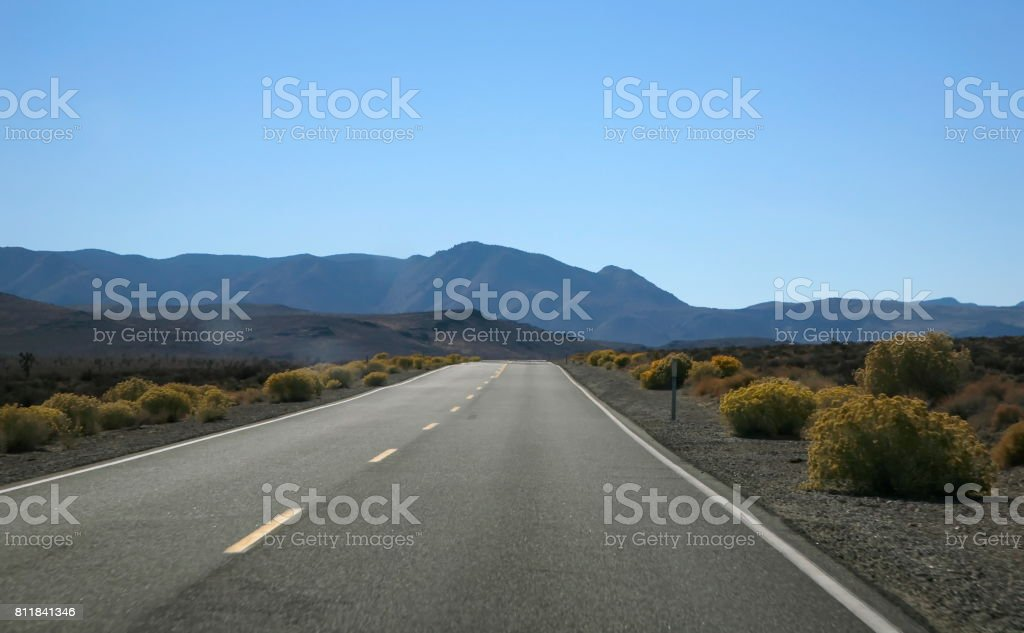 Going to Death valley stock photo