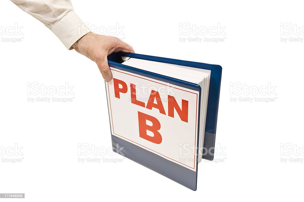 Going To Plan B royalty-free stock photo