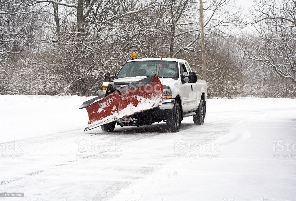 Going to plow the roads stock photo