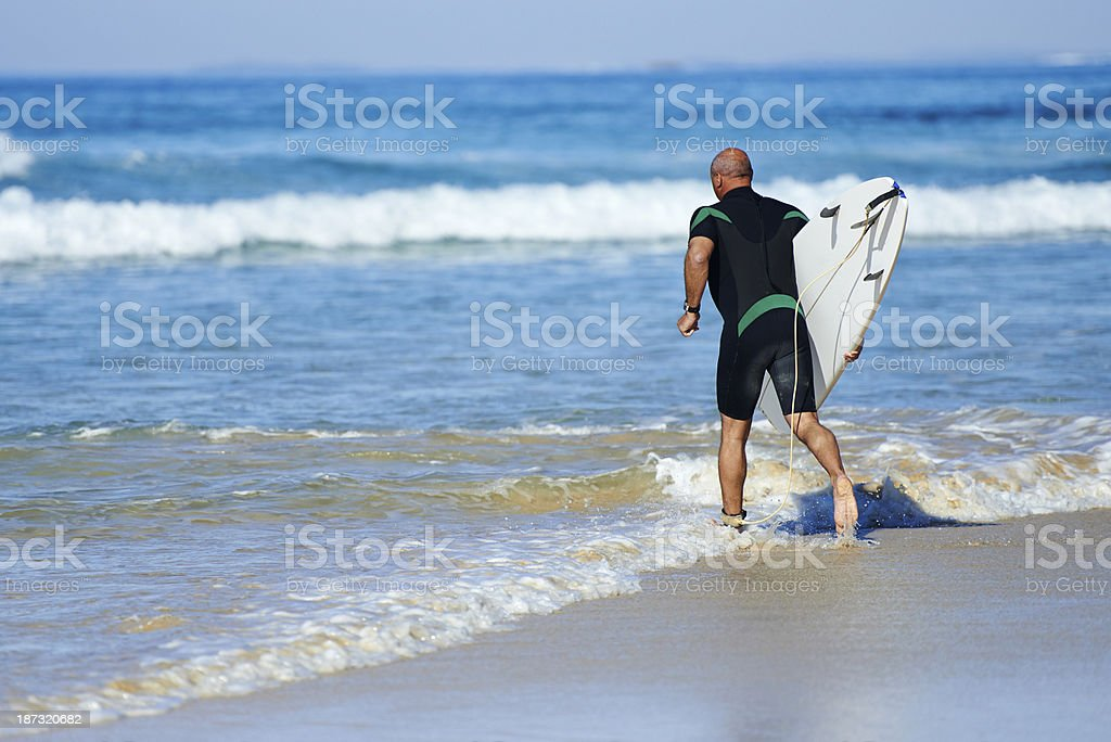 Going To Surf royalty-free stock photo