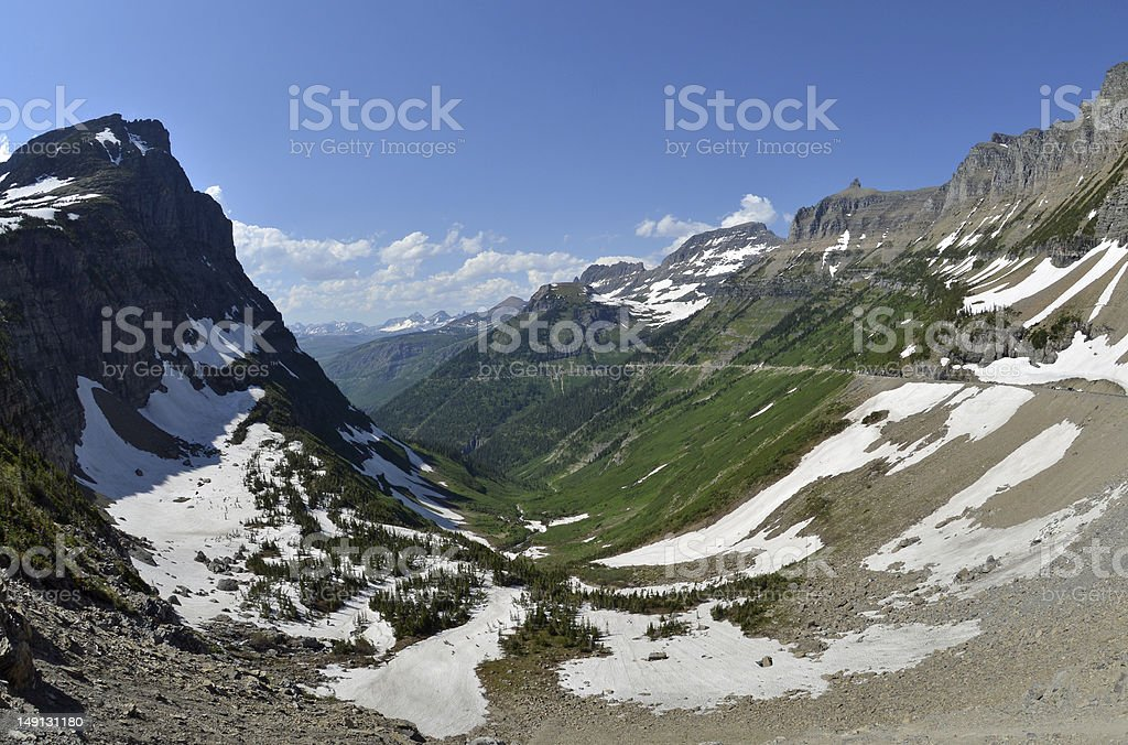 Going to the Sun Road royalty-free stock photo
