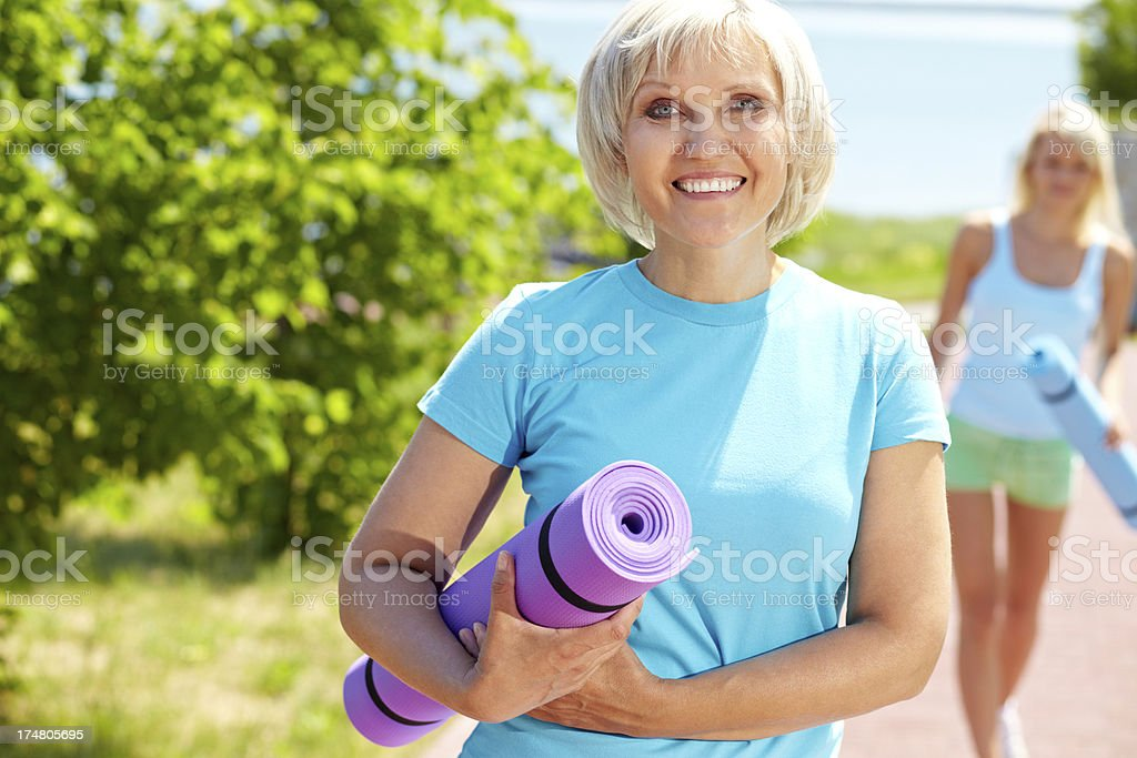 Going to train royalty-free stock photo