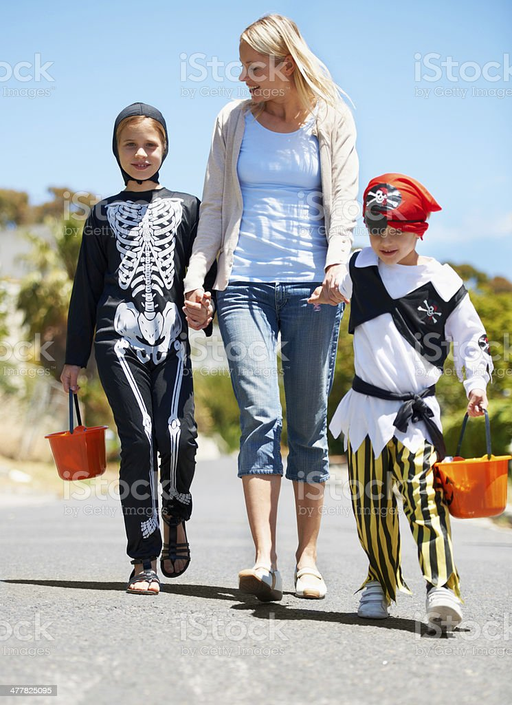 Going trick or treating royalty-free stock photo