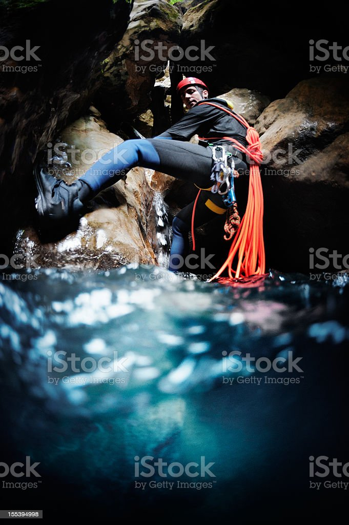 Going underwater royalty-free stock photo