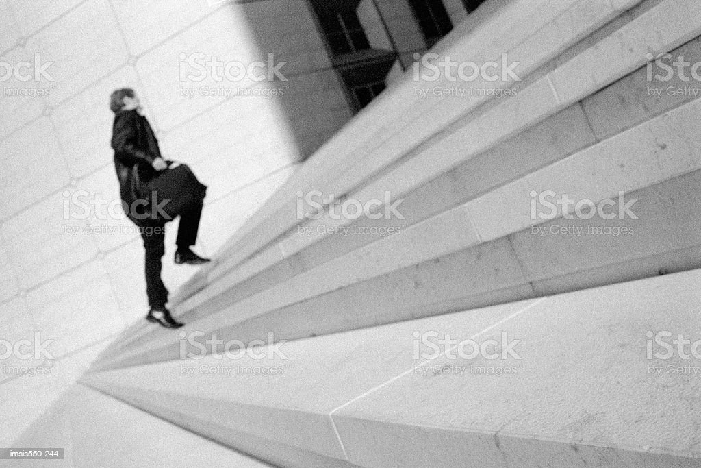Going up concrete stairs foto royalty-free