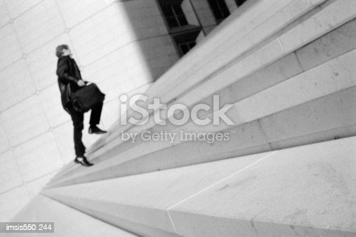 Going Up Concrete Stairs Stock Photo & More Pictures of Adults Only