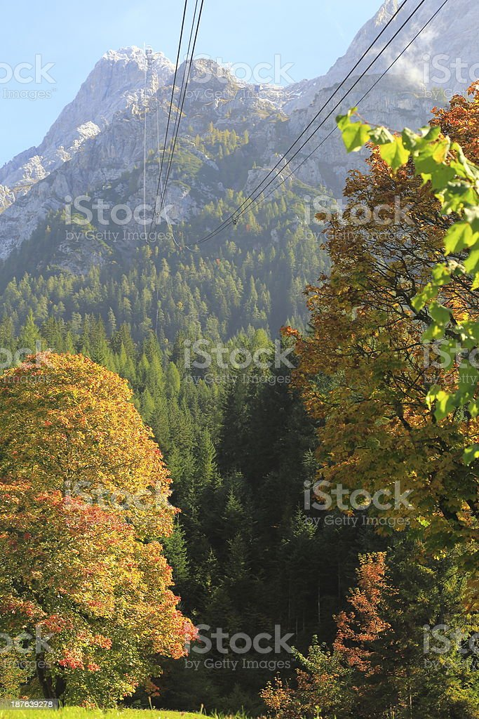 Going up to Zugspitze royalty-free stock photo