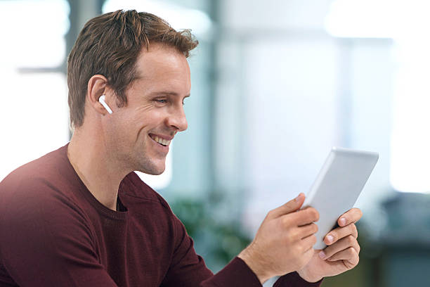 Going wireless for a better online experience stock photo