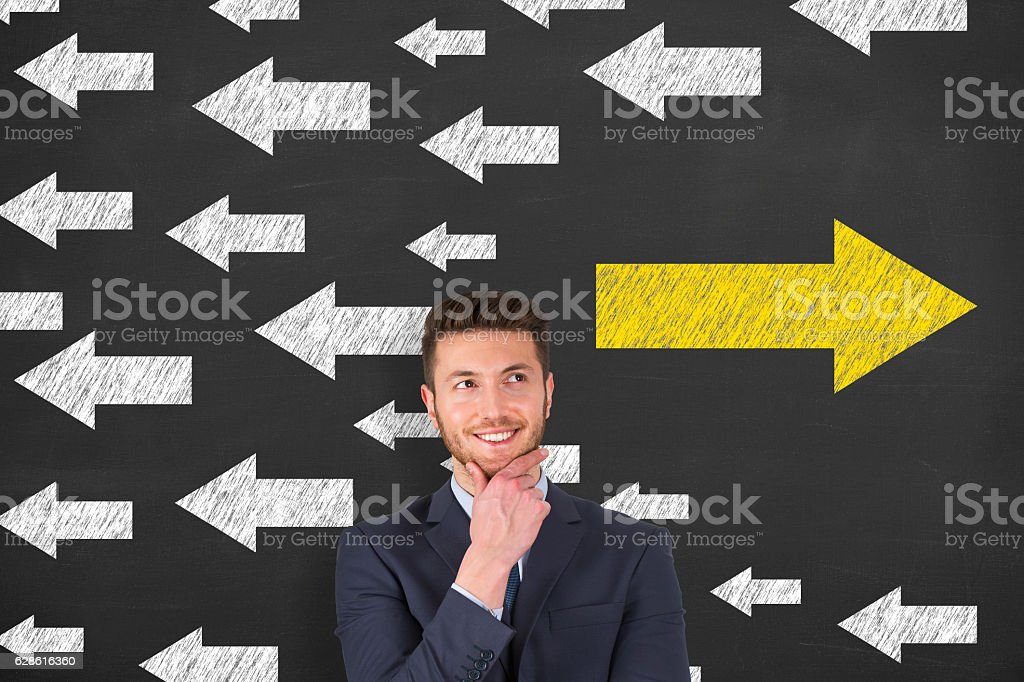 Going Your or Own Way Concept stock photo