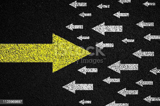 1088508096 istock photo Going your own way on asphalt background 1125969897