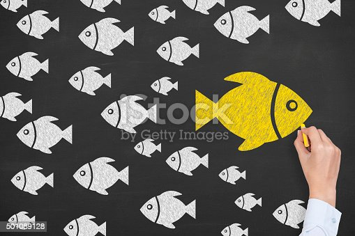 istock Going Your Own Way on Blackboard 501089128