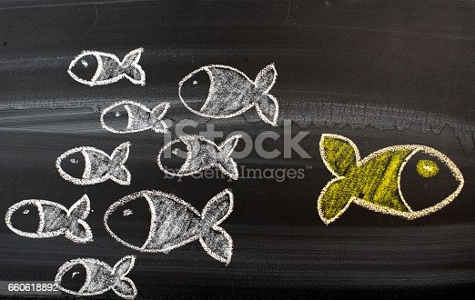 istock Going Your Own Way on Blackboard 660618892