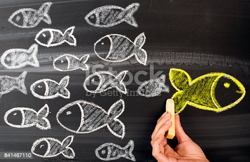 istock Going Your Own Way on Blackboard 841467110