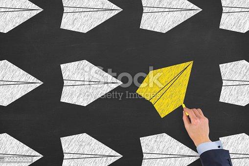 istock Going Your Own Way on Blackboard 905393020