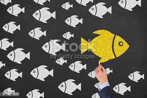 istock Going Your Own Way on Blackboard 917521820