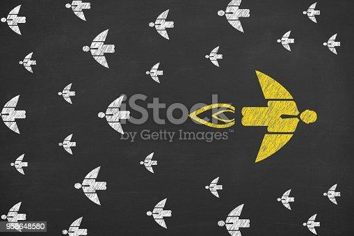istock Going Your Own Way on Blackboard 958648580