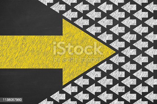 istock Going Your Own Way on Chalkboard Background 1138057950