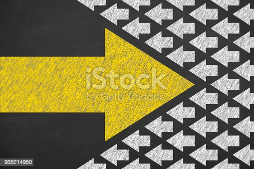 istock Going Your Own Way on Chalkboard Background 935214950