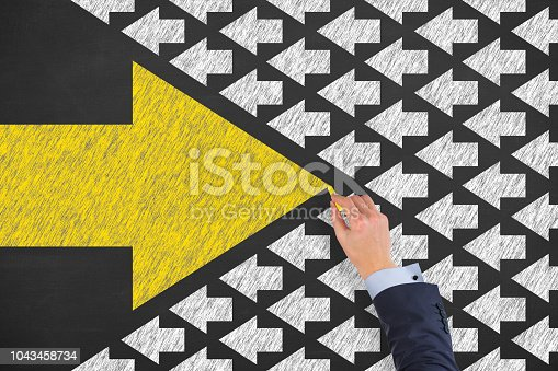 istock Going Your Own Way on Chalkboard 1043458734