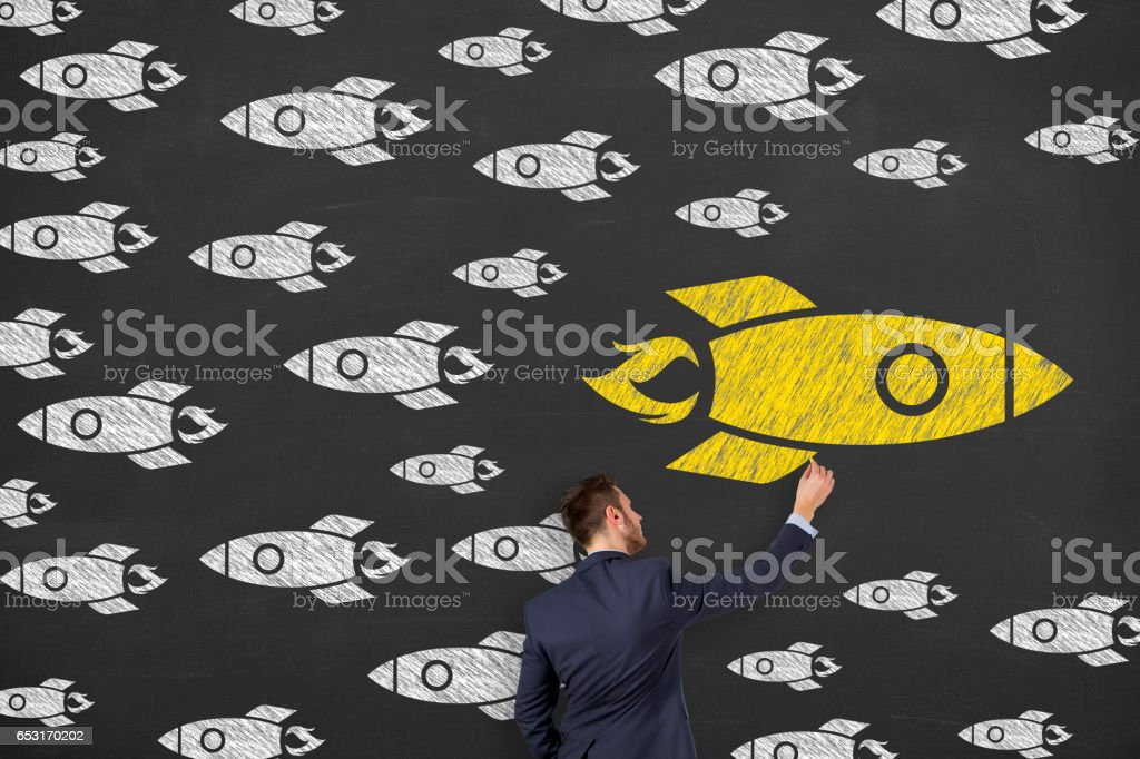 Going Your Own Way on Chalkboard stock photo