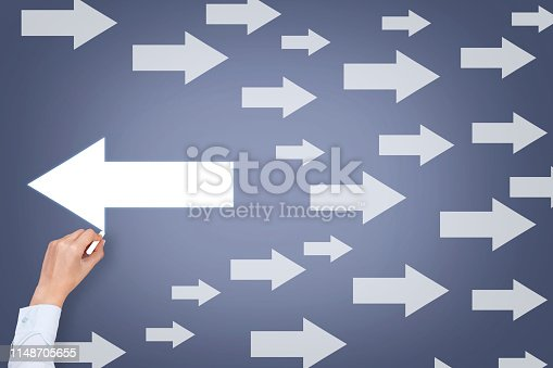 istock Going Your Own Way on Touch Screen 1148705655