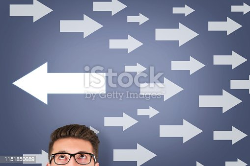 istock Going Your Own Way on Touch Screen 1151850689