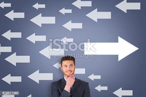 621936988istockphoto Going Your Own Way on Touch Screen 672617460