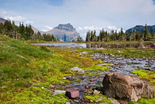 Goingtothesun Mountain From Logan Pass Stock Photo - Download Image Now