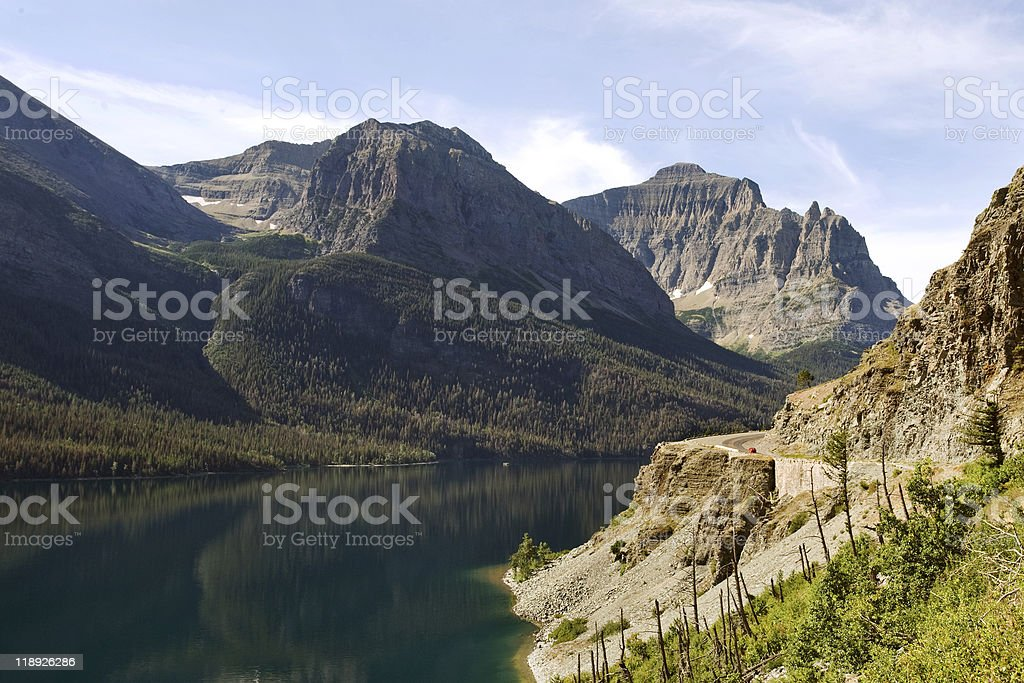 Going-to-the-sun road royalty-free stock photo