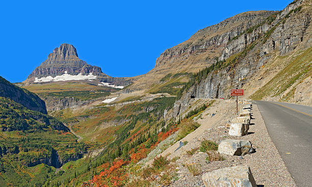 going-to-the-sun-road, east tunnel - going to the sun road stock pictures, royalty-free photos & images
