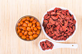 Goji berries or Wolfberry tea, traditional Asian remedy to improve eyesight