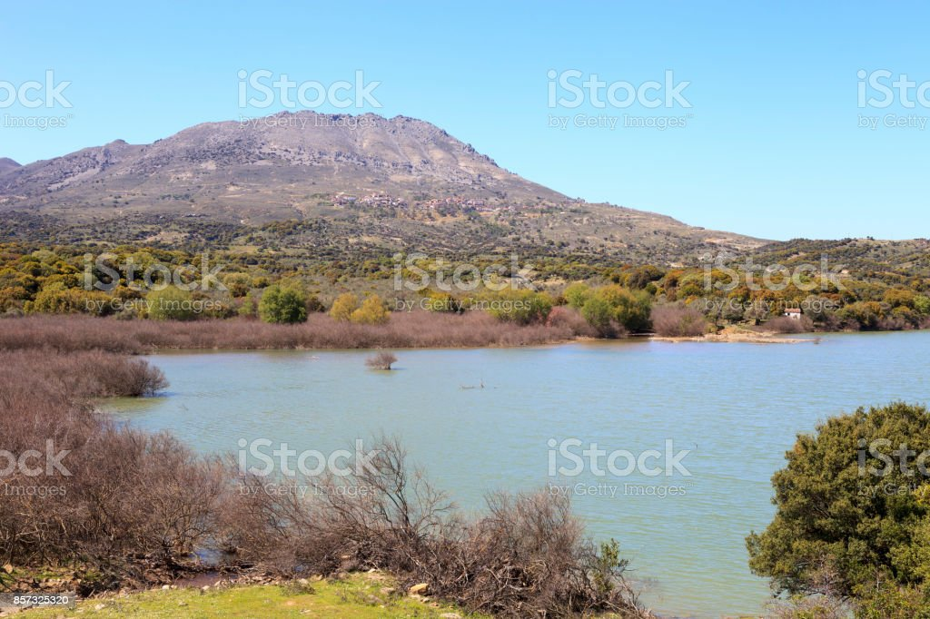 Gokceada (imroz) Dam Lake stock photo