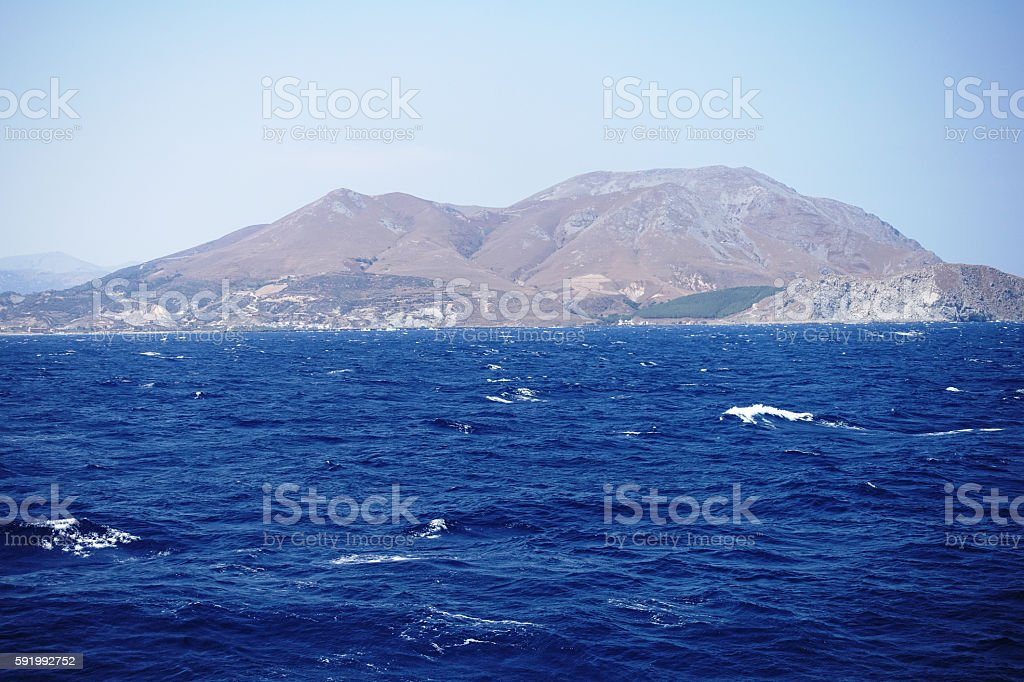 Gokceada island in Turkey stock photo
