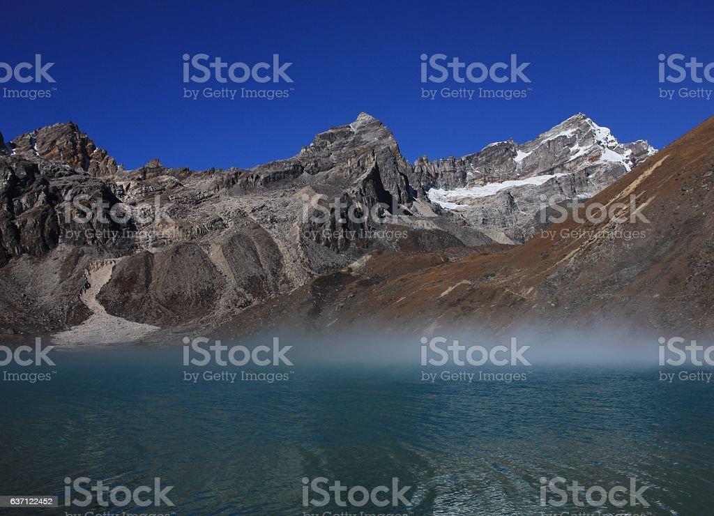 Gokyo lake and Renjo La pass stock photo